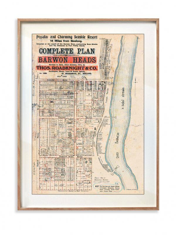 Print   Maps   Decor   Barwon Heads   Melbourne   Print modern