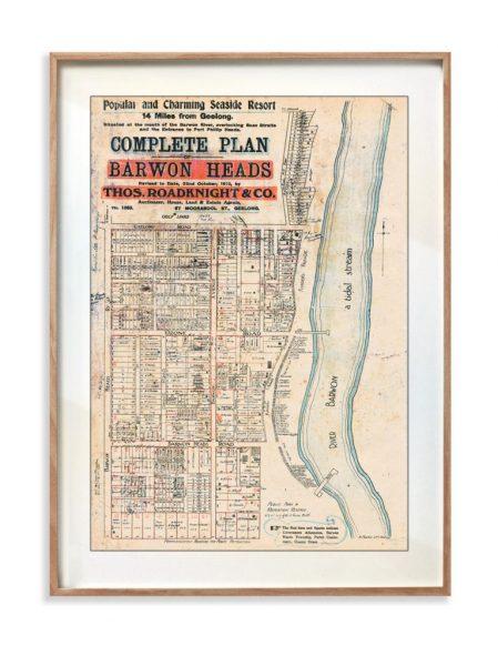 Print | Maps | Decor | Barwon Heads | Melbourne | Print modern