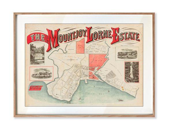 Print modern | Framed Prints | Maps | Historical maps and posters | Lorne Estate | Melbourne |