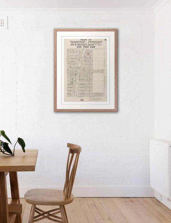 Historical maps | Maps | Frames | Yarraville | Melbourne | Print modern