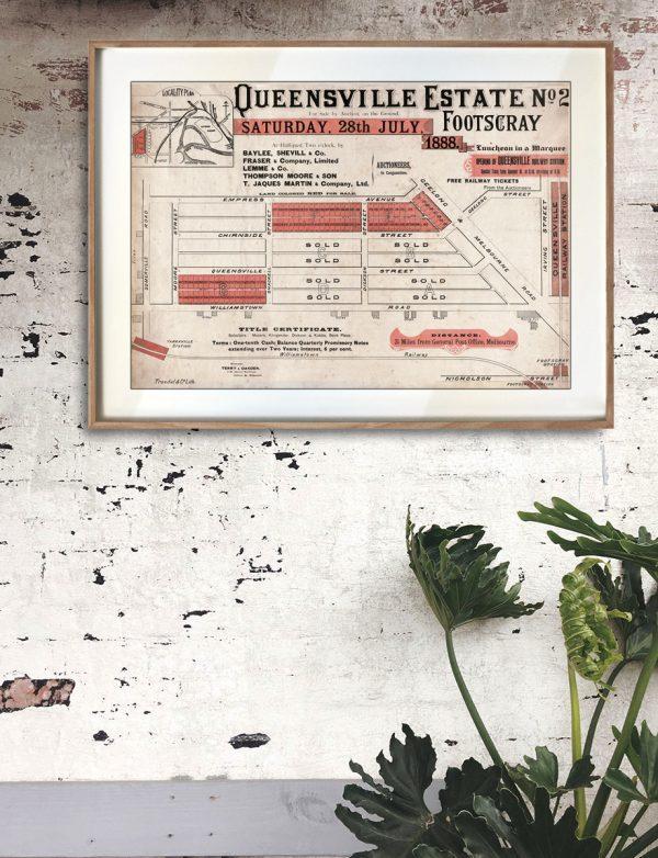 Detail   Maps   Decor   Queensville   Kingsville   Melbourne   Print modern