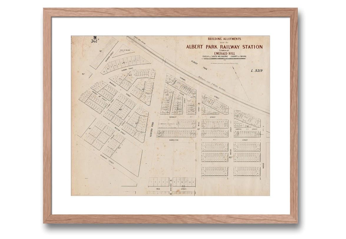 map | town planning | Albert Park | South Melbourne