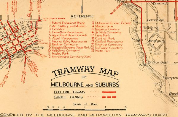 tram Map print   Wall art   Melbourne   Print modern