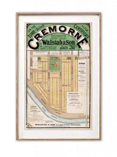 Cremorne Map print | Wall art | Melbourne | Print modern
