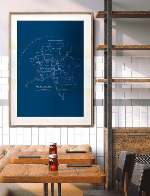 melbourne Map print   Wall art   Melbourne   Print modern
