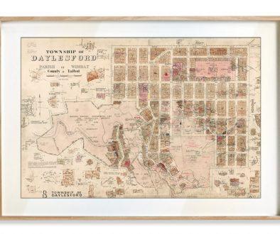 Historical maps | Maps | Interior Decor | Melbourne | Print modern | Daylesford