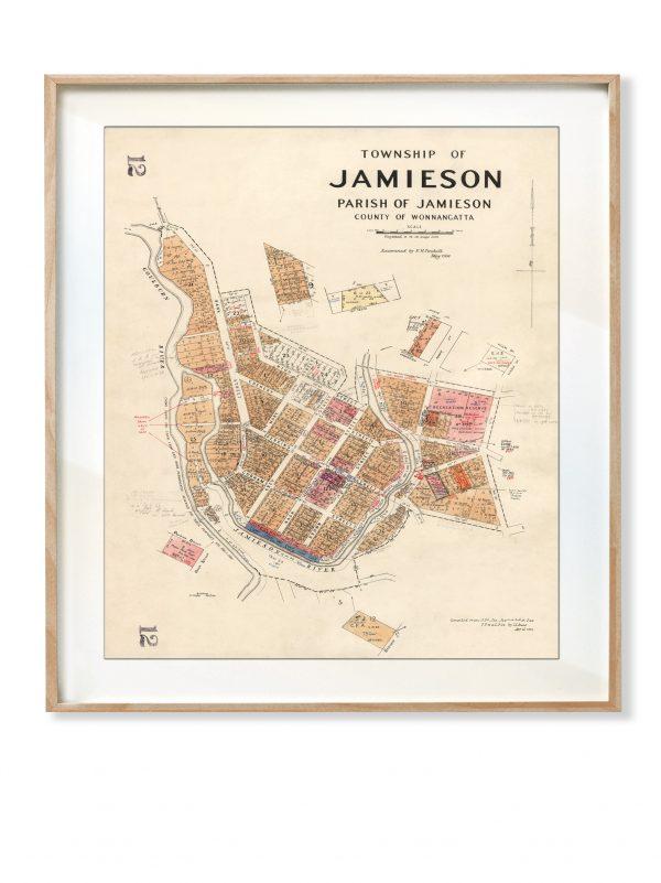 Jamieson Map print   Frame  Jamieson   Print modern