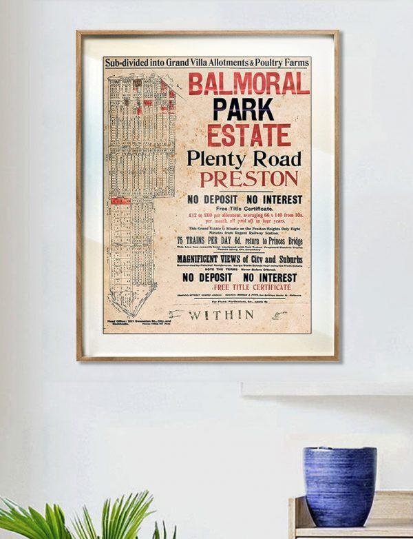 Map Prints | Maps | Preston | Melbourne | Print modern