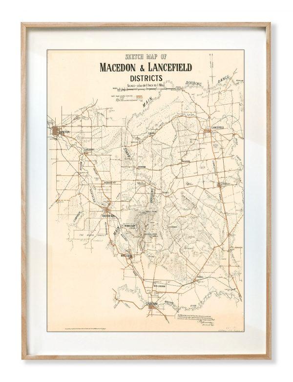 Prints   Maps   Macedon Ranges   Print modern